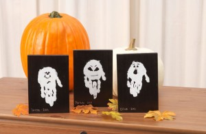ghost handprint creative halloween craft ideas - Preschool Halloween Crafts Ideas