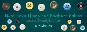 Must Have Baby Items for 0-3 Months