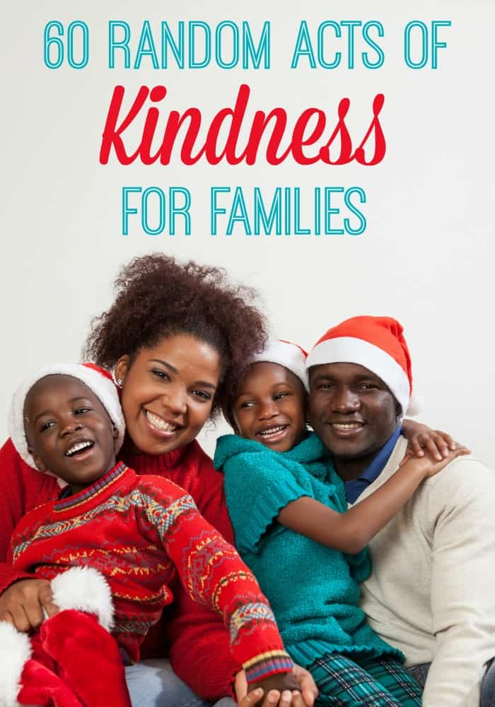 60 Acts of Kindness for Families this Holiday Season // iFamilyKC Blog