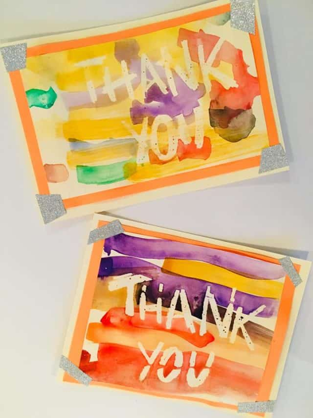creative thank you cards from kids
